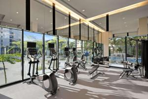 The fitness center and/or fitness facilities at Ramada by Wyndham Singapore at Zhongshan Park (SG Clean)