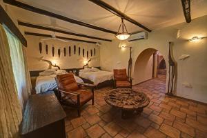 A seating area at Mount Etjo Safari Lodge