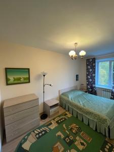 Кровать или кровати в номере Apartment on Lenina 37