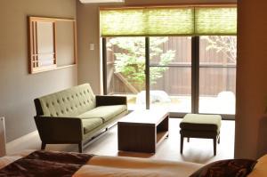A seating area at Hanare no yado Kamigakure