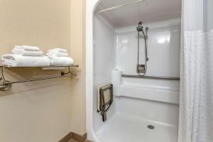 A bathroom at Comfort Inn La Porte