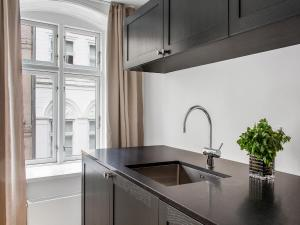 A kitchen or kitchenette at Smaller Luxury Apartment