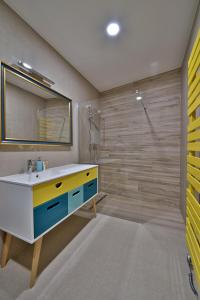 A bathroom at Hotel Pod Bránou