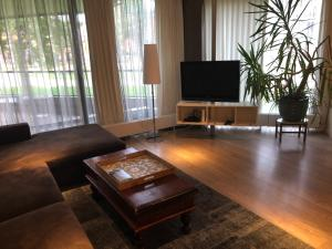 A television and/or entertainment centre at Lounge Park Apartment