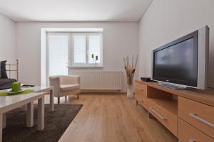 Televízia a/alebo spoločenská miestnosť v ubytovaní Zoerentals Zlatovska