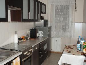 Kuchnia lub aneks kuchenny w obiekcie Luksusowe Apartamenty Łódź