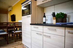 A kitchen or kitchenette at Apartment Central am Zoo
