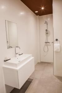 A bathroom at Apartments Prinsengracht