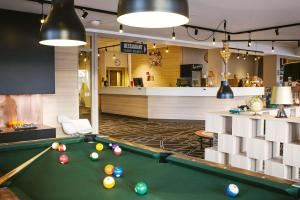 A pool table at Scandic Uppsala Nord