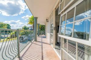 A balcony or terrace at Silver Fern Rotorua - Accommodation & Spa