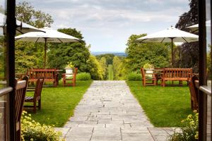 A garden outside Lainston House