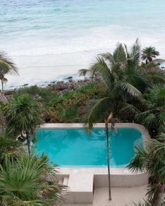 Vue sur la piscine de l'établissement Diamante K ou sur une piscine à proximité