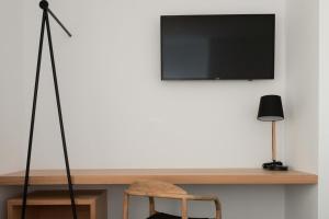 A television and/or entertainment center at Hoopoe Villas Lanzarote
