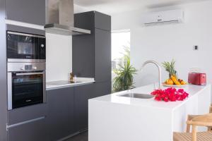 A kitchen or kitchenette at Hoopoe Villas Lanzarote