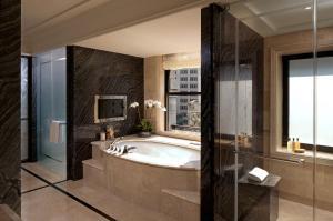 A bathroom at The Peninsula New York