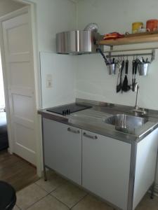 Cuisine ou kitchenette dans l'établissement Welkom-in