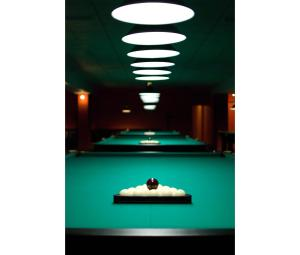 A pool table at Salute Hotel