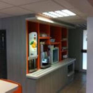 The lobby or reception area at Premiere Classe Bordeaux Sud Villenave D'ornon