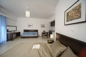 Χώρος καθιστικού στο Γλάρος Ξενοδοχείο - Διαμερίσματα