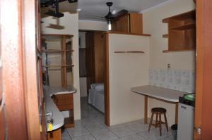 A bathroom at Apart Hotel Universitário
