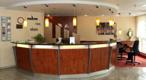 The lobby or reception area at AMEDIA Hotel Frankfurt Rüsselsheim