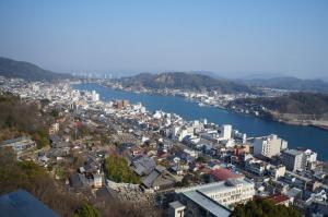 A bird's-eye view of Onomichi View Hotel Seizan
