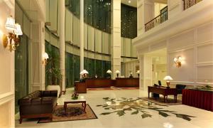De lobby of receptie bij Royale Chulan Damansara