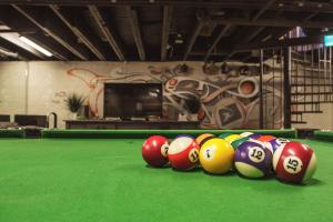 A pool table at Mad Monkey Backpackers Bayswater