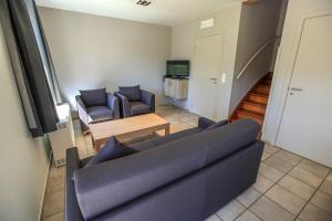 A seating area at Maisons de Vacances Azur en Ardenne