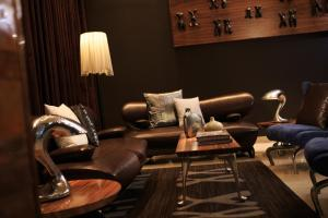 A seating area at Renaissance New York Times Square Hotel