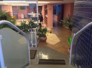 O saguão ou recepção de Hotel Santamaria
