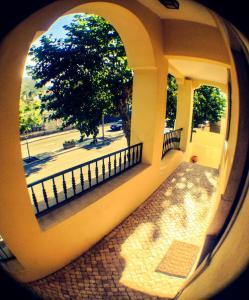 Balcony o terrace sa Hospedaria Cafe Pielas