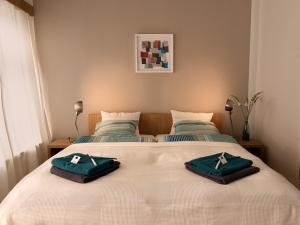 A bed or beds in a room at Bed and breakfast Placzek