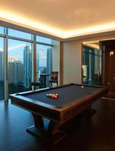 A pool table at JW Marriott Marquis Miami