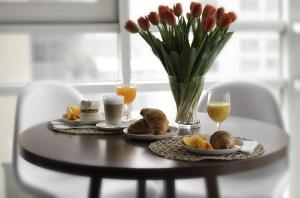 Opcje śniadaniowe w obiekcie Platinum Residence