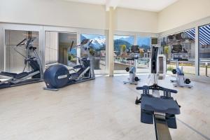 Gimnasio o instalaciones de fitness de Metropole Swiss Quality Hotel