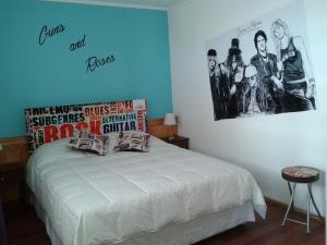 Cama o camas de una habitación en Hotel Ecomusic