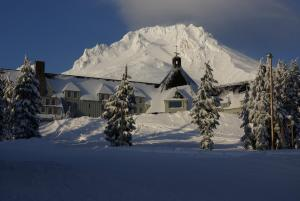 Timberline Lodge during the winter