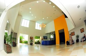 The lobby or reception area at Lider Palace Hotel