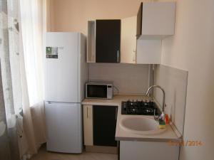 Кухня или мини-кухня в Leader NORD apartments at Smolenskaya