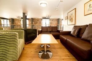A seating area at YHA Berwick