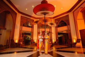 The lobby or reception area at Amazing Bagan Resort