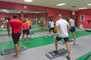 The fitness center and/or fitness facilities at Relaxia Lanzasur Club - Aqualava Water Park