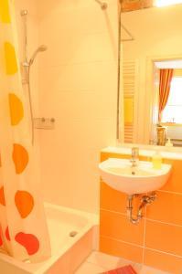 Ein Badezimmer in der Unterkunft Hotel zur alten Stadtmauer