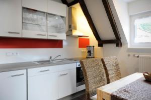 Küche/Küchenzeile in der Unterkunft Winneburger Hof
