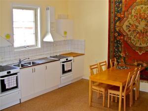 Ett kök eller pentry på Gaffelbyn - Sundsvalls Vandrarhem