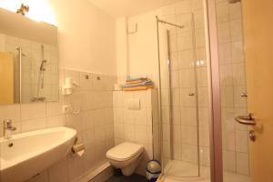 A bathroom at Pension Ratskeller