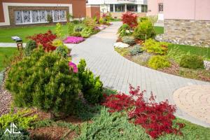 A garden outside Solaris Resort