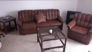 Ein Sitzbereich in der Unterkunft Haus Sonja