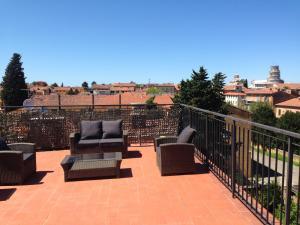 A balcony or terrace at Hotel Di Stefano